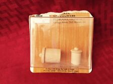 NEW VINTAGE 1960'S MINI THINGS MINIATURES 2 CANNISTERS! LOW SHIPPING! LQQK!