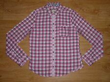 Women's Hollister Multi Check Long Sleeve Double Cloth Cotton Shirt Top L 14