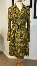 Burberry Prorsum Chartruese Green Ribbon Lace Trench Coat IT42 US6 AU10