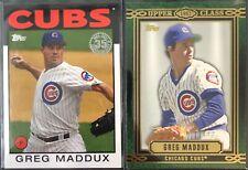 2014 MLB Topps Baseball - Greg Maddux 2 Card Lot - 35th Anniversary Upper Class