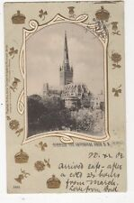 Norwich Cathedral From SE 1902 U/B Tuck Postcard 011a