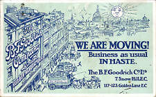 Holborn. B.F. Goodrich Co. Ltd., Rubber Manufacturers, Snow Hill & Golden Lane.