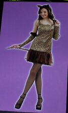 Leopard girl costume,Teens 1 size,Halloween,masquerade,theatre,dress-up,plays