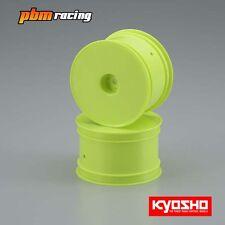"Kyosho Rear 1/10 Buggy 12mm Hex Wheels Yellow 2WD & 4WD/2.2""/2pcs - W5202Y"