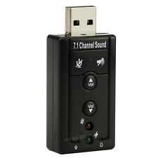 7.1 Channel Sound USB 2.0 3D Virtual Audio External Sound Card Adapter PC