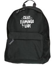 Crazy flamingo lady kit bag backpack ruck sack school