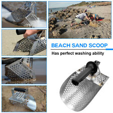 Sand Scoop with Handle Metal Detecting Tool Stainless Steel Detector Beach
