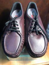 SAS Siesta Burgundy Lace Up Oxford Tripad Comfort Moc Toe Shoes Women's 8 WW