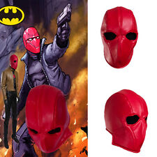 Hot Cakes Batman Red Hood Cosplay Hat Leather Mask Helmet Hallowmas Accessories