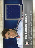 2012-13 Between The Pipes Big League Debut Jerseys Silver John Vanbiesbrouck/100