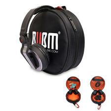 BUBM Earphones Headphones Round Case Bag fo HDJ500 HDJ1000 Other and Cables USB