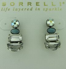 Sorrelli Rainbow Quartz  Earrings EDK43ASRQ antique silver tone