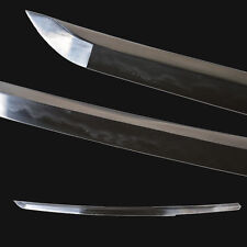 Japanese Wakizashi Samurai Sword Folded Steel Clay Tempered Katana Full tang