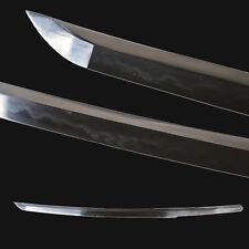 Japanese Wakizashi Samurai Sword Folded Steel Clay Tempered Katana Full tang