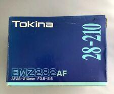 Tokina EMZ282AF 28-210mm f3.5-5.6 M/A To Fit Minolta New with Box