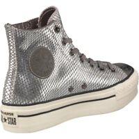 Converse All Star CT Platform Hi Top Ladies Snakeskin Chelsea Trainers UK 5.5
