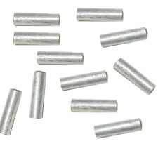 4x20mm Strait Tube Beads Silver Plated Copper 2.7mm Hole 12 Pcs