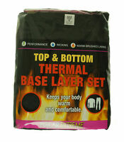 Polar Extreme Women's 2 Piece Thermal Base Layer Set Top and Bottom Black