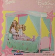 Barbie and Kelly Bedtime Stories Canopy Bed Playset