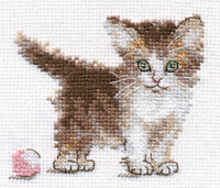 Counted Cross Stitch Kit ALISA - Little Kitty