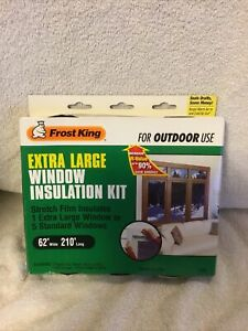 Frost King Window Insulation Kit 5 Pak Outdoor V95  5 Standard Or 1 XL 62 x 210