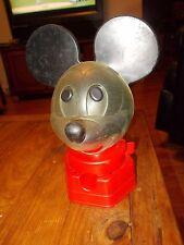 1968 Hasbro Mickey Mouse Piggy Bank Penny Gum Ball Dispenser Machine