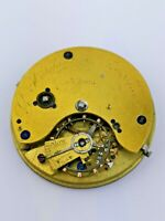 Hutchinson London, Fusee Pocket Watch Movement for Repair or Parts (AD87)