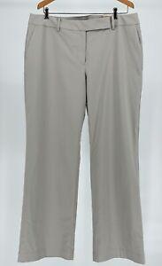 Ann Taylor Factory Sz 14 Curvy Fit Trouser Light Gray Curved Through Hip & Thigh
