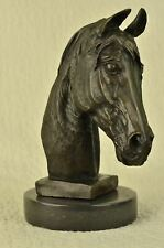 "Horse Head Bust Bronze Metal Sculpture Statue Equestrian Gift Barye 12"" x 10"""