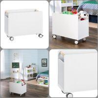 Toy Storage Box Chest Bin Large Organizer Kids Bedroom Furniture Playroom White