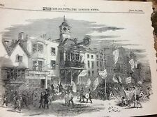 m4-6 ephemera 1849 picture high street guildford election