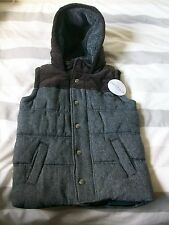 Wool Blend Indigo S/less Hooded Quilted Jacket, Age 5-6 Years, M&S, BNWT