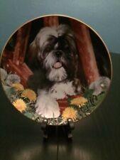 The Danbury Mint Shih Tzu Dandelion Dog Plate