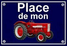 """plaque """" PLACE DE MON TRACTEUR MC CORMICK IH 523    """""""
