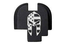 for Springfield Armory XDS Rear Slide Plate 9mm .40 .45 BLK Spartan Helmet Flag