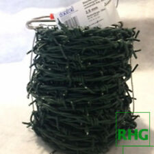 25 Meter Stacheldraht 2,8 mm grün kunststoffummantelt - korrosionsgeschützt