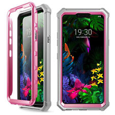 Shockproof Hybrid TPU Clear Back Hard Case Cover Case For LG G8 ThinQ Pink