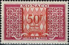 MONACO : TAXE N° 38A NEUF ** SANS CHARNIERE FRAICHEUR POSTALE COTE 61 €