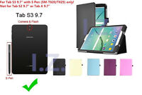 """Slim Folio Magnetic Case Cover Stand For Samsung Galaxy Tab S3 9.7"""" SM-T820"""