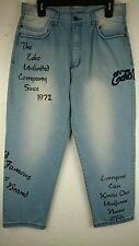 Ecko Unltd Mens 39X30 Jeans HIP HOP Baggy Casual Embroidery Print Swag Denim C