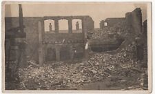 Ruined and Burnt Out Commercial Building RP PPC, Unknown Area, c 1920's