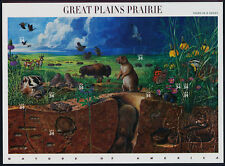 Sheet 10 Mint Stamps: GREAT PLAINS PRAIRIE Dogs Dog + Buffalo Bison Badger Geese