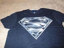 Superman Mens KO Super Hero DC Comics Black & Gray T-Shirt Size Large L