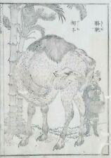 HOKUSAI MANGA - THE CAMEL -  An Original Woodblock Print (Woodcut)