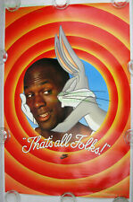 NITF! Vintage 1992 Nike Poster THAT'S ALL FOLKS! Michael Jordan Bugs Bunny Hare