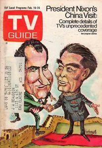 1972 TV Guide February 19 - China Visit; Don Rickles; Barbara Chrysler;B Russell