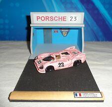 "DIORAMA 1/43-LE MANS 1971 BOX/PIT LANE PORSCHE 917/20 ""PINK PIG""-MODELLO INCLUSO"