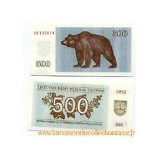 Billet de collection Lituanie Pk N° 44 - 500 Talonu