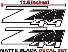 Z71 4x4 Truck Bed Decals, MATTE BLACK (Set) for Chevrolet Silverado