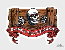 Blind Powell Skeleton Skateboard Sticker 4.3in